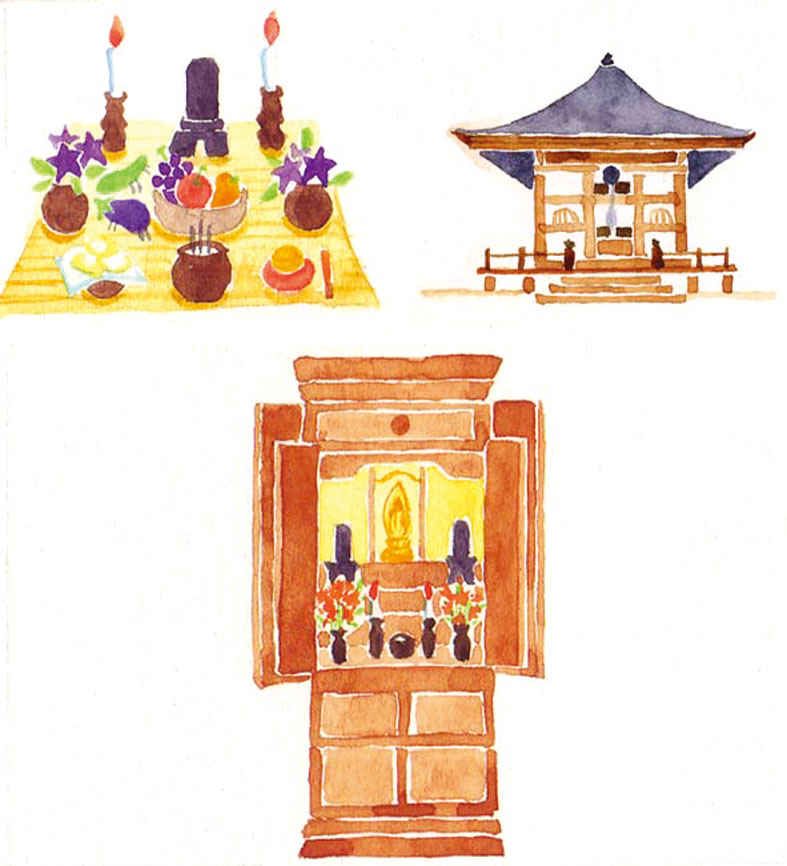 ご先祖様のお祀りと小さな寺院